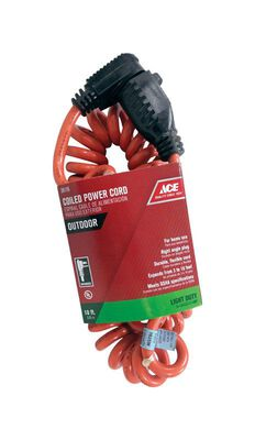 Ace Indoor and Outdoor Extension Cord 16/3 SJTW 3 to 10 ft. L Orange