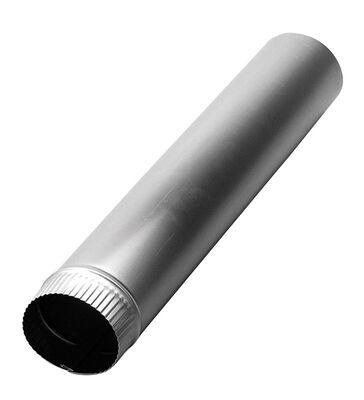 Deflect-O Jordan 4 in. Dia. x 2 ft. L Aluminum Vent Pipe