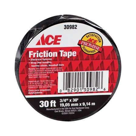 Ace 3/4 in. W x 30 ft. L Friction Tape Black