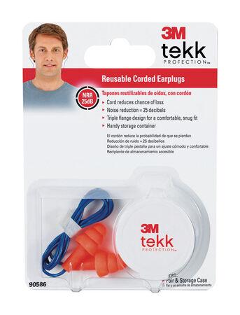 Tekk Reusable Ear Plugs 25 dB Orange 1 pair