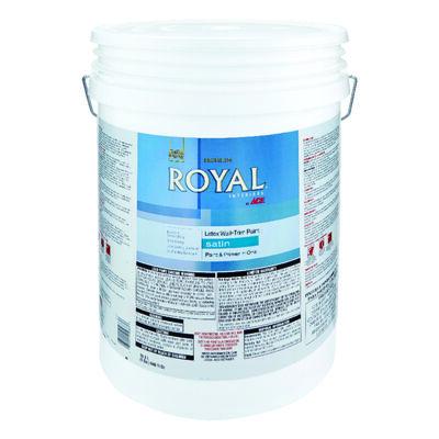 Ace Royal Interior Acrylic Latex Wall & Trim Paint Ultra White Satin 5 gal.