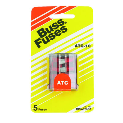 Bussmann 10 amps ATC Automotive Blade Fuse 5 pk