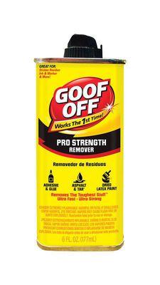 Goof Off Pro Strength Adhesive Remover 6 oz. Liquid