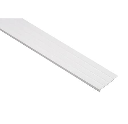 "0.91"" x 8"" x 12.6ft White Woodgrain Vinyl Fascia"
