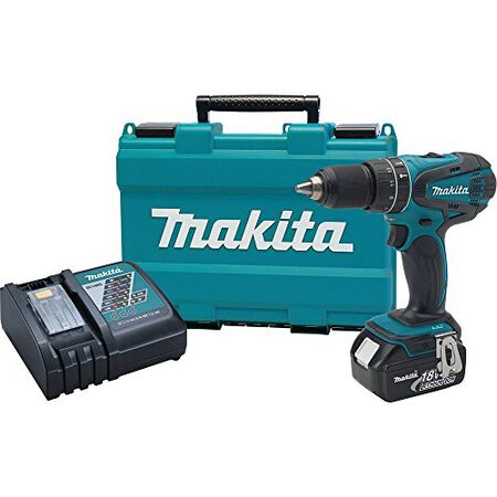 Makita LXT 18 volts 1/2 in. Ratcheting Keyless Cordless Hammer Drill/Driver Kit 0-400/0-1 500