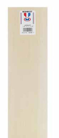 Midwest Products Basswood Sheet 1/8 in. x 4 in. W x 2 ft. L