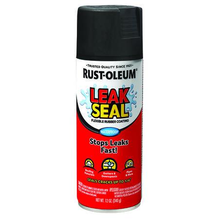 Rust-Oleum Black Leakseal Flexible Rubber Sealant 12 oz.