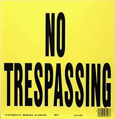 Hy-Ko English 11 in. H x 11 in. W Plastic Sign No Trespassing