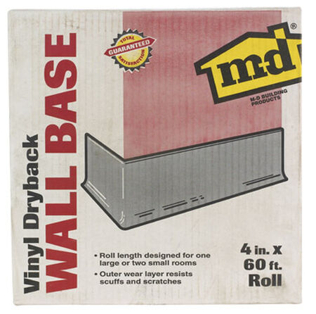 M-D Building Products Coved Wall Base Vinyl 4 in. H x 60 ft. W Brown