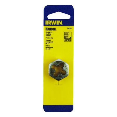 Irwin Hanson High Carbon Steel 7/16 in.-14NC SAE Hexagon Die 1 pc.