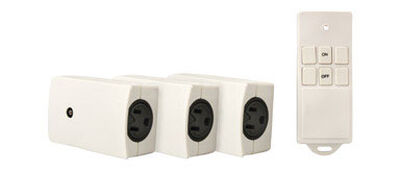 Woods 13 amps Wireless Remote Receptacle Set 3 pk