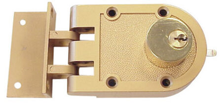Ace Golden Painted Double Cylinder Lock 2-1/4 in.
