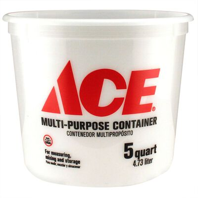 Ace Plastic Bucket 5 qt. Clear