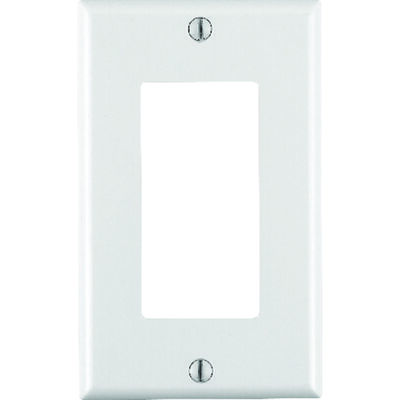 Leviton 1 gang White Thermoset Plastic Rocker/GFCI Wall Plate 1 pk
