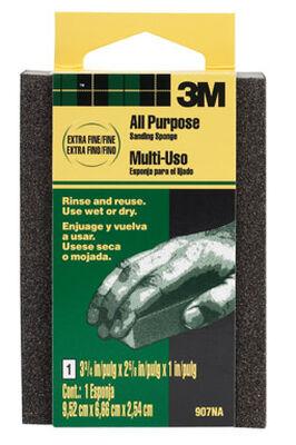 3M Aluminum Oxide Sanding Sponge 2-5/8 in. W x 3-3/4 in. L Extra Fine