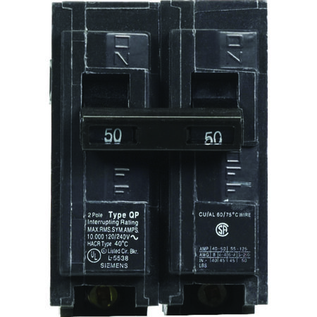 Siemens HomeLine Double Pole 50 amps Circuit Breaker