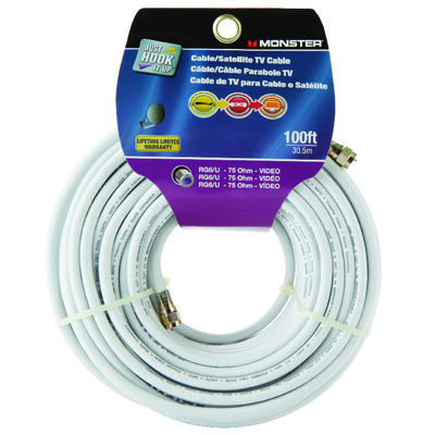 Monster Just Hook it Up 100 ft. L Video Coaxial Cable