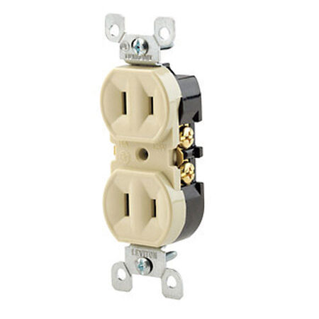 Leviton Electrical Receptacle 15 amps 1-15R 125 volts Ivory