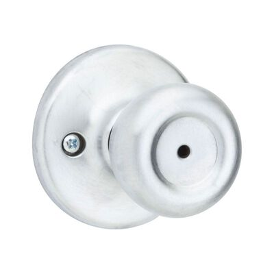 Kwikset Mobile Home Mobile Home Privacy Knob Satin Chrome Steel 3 Grade Left or Right Handed