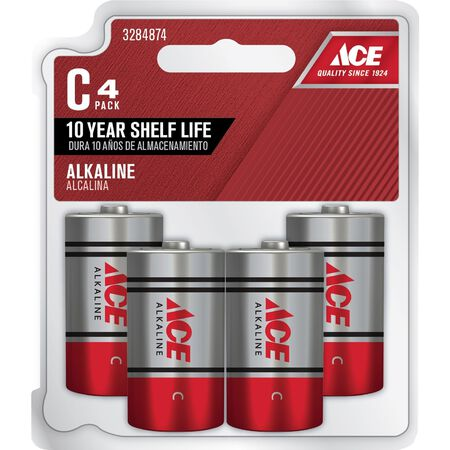 Ace C Alkaline Batteries 1.5 volts 4 pk