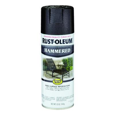 Rust-Oleum Stops Rust Black Gloss Hammered Spray 12 oz.