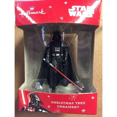 HALLMARK Darth Vader Christmas Ornament Multicolored Resin 3.25 in. 1 pk