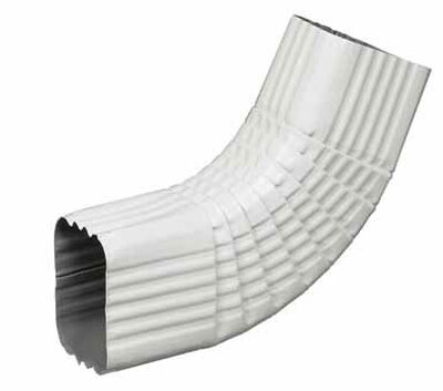Amerimax 3 L x 3 in. W x 2 in. H x 3 in. W x 2 in. H Aluminum B Gutter Elbow White
