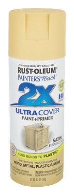 Rust-Oleum Painter's Touch Ultra Cover Strawflower Satin 2x Paint+Primer Enamel Spray 12 oz.