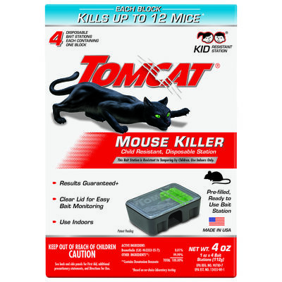 Tomcat Disposable Bait Station For Mice 4 pk