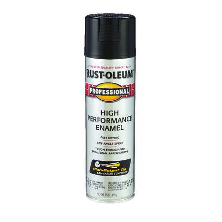 Rust-Oleum Professional Gloss Black Spray Paint 15 oz.
