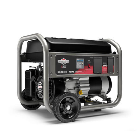 Home 3500-Watt Recoil Start Gasoline Powered Portable Generator with B&S OHV Engine Featuring CO Guard