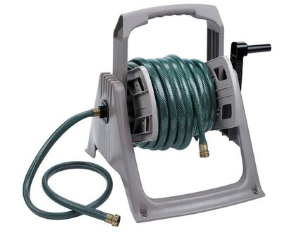 Suncast Hose Handler Stationary Hose Reel 100 ft. Taupe