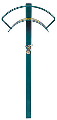 Yard Butler Post Mount Hose Hanger with Faucet 100 ft. Green