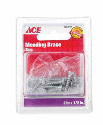 Ace 2 in. H Zinc Mending Brace 4