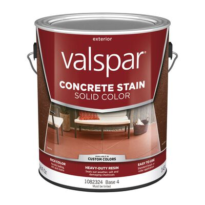 Valspar Solid Color Resin Concrete Stain Base 4 Tintable 1 gal.
