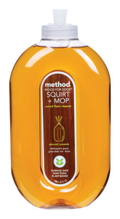 Method Squirt and Mop Wood Floor Cleaner No Wax 25 oz. squirt bottle Almond
