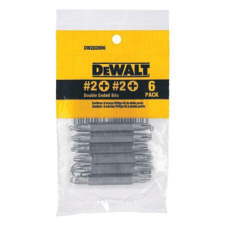 DeWalt #2 in. Phillips Screwdriver Bit 1/4 in. Dia. 6 pc.
