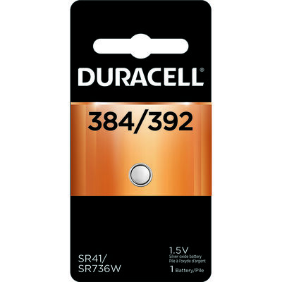 Duracell 384/392 Silver Oxide Watch/Electronic Battery 1.5 volts 1 pk