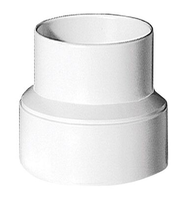 Deflect-O Jordan 4 - 3 in. Dia. Plastic Increaser/ Reducer White