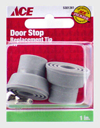 Ace Rubber Door Stop Tip 1 in. L Gray
