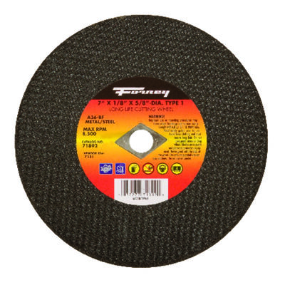 Forney 7 in. Dia. x 1/8 in. thick x 5/8 in. Metal Cut-Off Wheel
