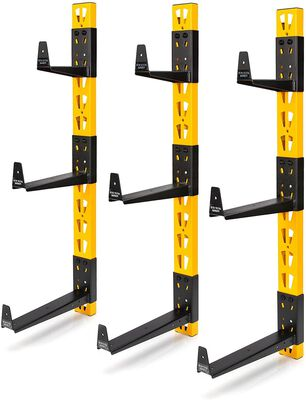 Dewalt 3-Piece Wall Mount Cantilever Rack for Workshop Shelving/Storage, Multi-Depth Storage, Supports a Total of 273 lbs.