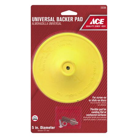 Ace 5 in. Dia. Plastic Backing Pad