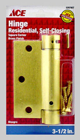 Ace Brass 3.5 in. L x 3.5 in. L x 3.5 in. Dia. Satin Brass 1 pk Residential Hinge