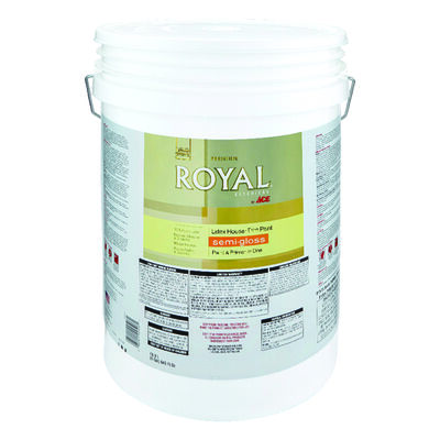Ace Royal Acrylic Latex House & Trim Paint & Primer Semi-Gloss 5 gal. Hi Hiding White