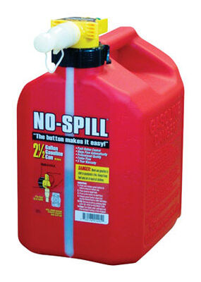 No Spill Plastic Gas Can 2.5 gal.
