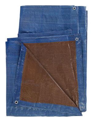 Ace Blue/Brown Medium Duty Tarp 12 ft. W x 20 ft. L