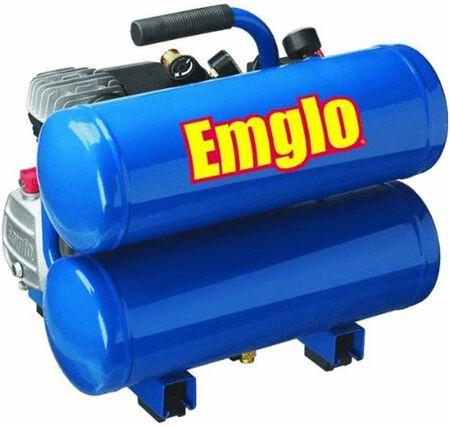 Emglo E810-4V 4-Gallon Heavy-Duty Oil-Lube Stacked Tank Air Compressor
