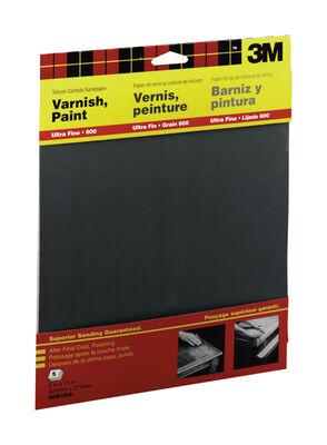 3M Silicon Carbide Sandpaper 11 in. L 600 Grit Ultra Fine 5 pk