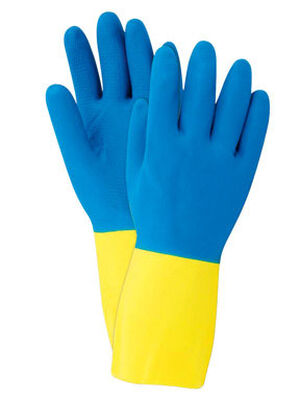 Soft Scrub Latex Cleaning Gloves Medium 2 pc. Blue